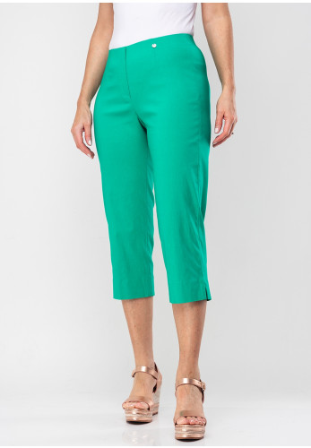 Robell Marie 07 Stretch Crop Trousers, Golf Green