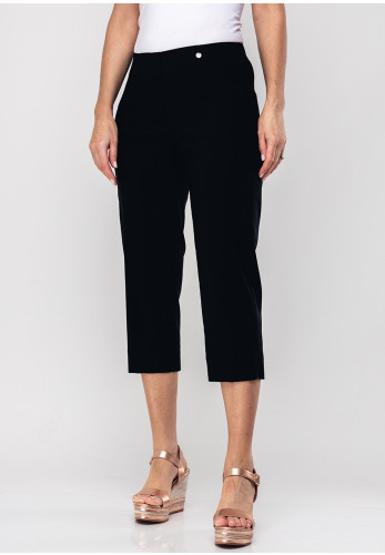 Robell Marie 07 Stretch Crop Trousers, Black