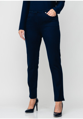 Robell Bella Slim Stretch Denim Jeggings, Navy