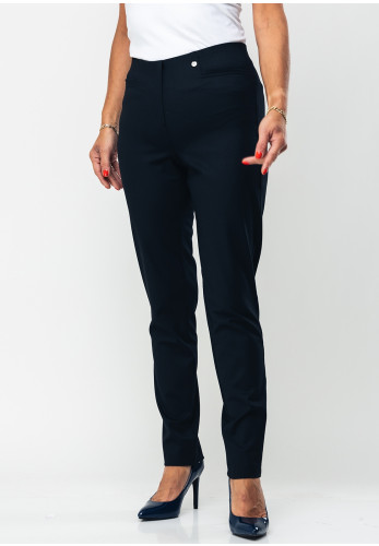 Robell Jacklyn Slim Fit Stretch Trousers, Navy