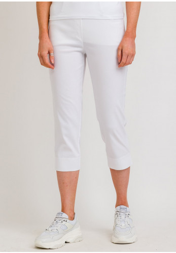 Robell Lexi 07 Slim Fit Cropped Trousers, White