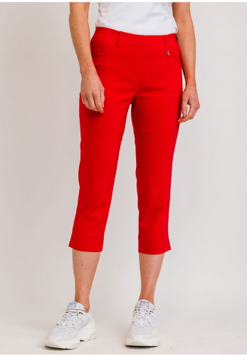 Robell Lexi 07 Slim Fit Cropped Trousers, Red