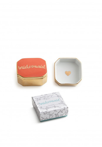 Widdop Bridesmaid Trinket Box, Coral