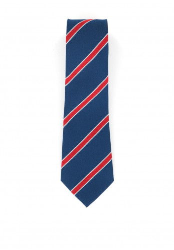 Hunter Blue and Red Stripe School Tie