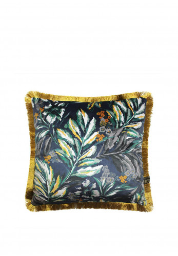 Scatterbox Juniper Fringed Feather Cushion, Navy