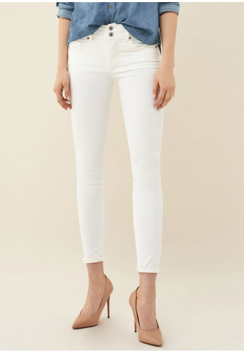 Salsa Push In Secret Stainless Skinny Jeans, White