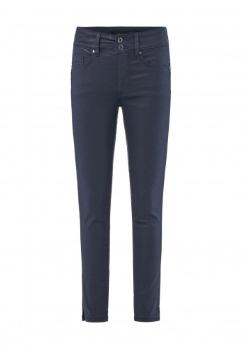 Salsa Secret Coated Push in Capri Skinny Jeans, Navy