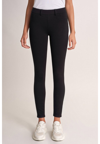 Salsa Push up Wonder Capri Jersey Jeggings, Black