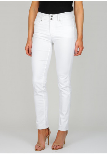 Salsa Secret Push In Straight Leg Jeans, White