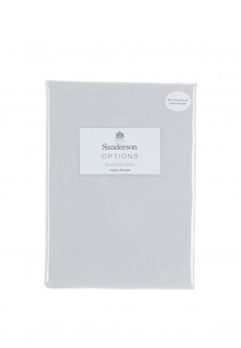 Sanderson Cotton Percale Flat Sheet, Grey