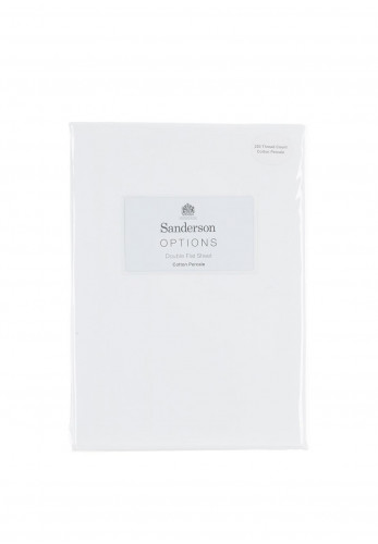 Sanderson Cotton Percale Flat Sheet, White
