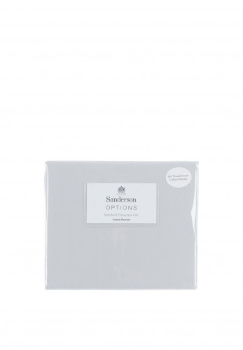 Sanderson Cotton Percale Pillowcase Pair, Grey