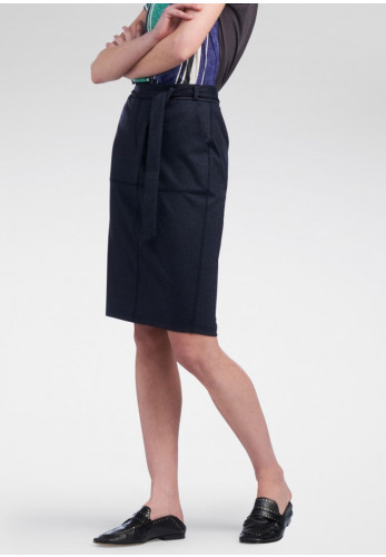 Sandwich Denim Jersey Skirt, Navy