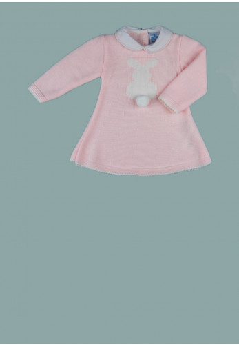 Sardon Baby Girls Bunny Knit Dress, Pink