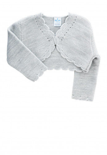 Sardon Baby Girls Knit Bolero Cardigan, Grey