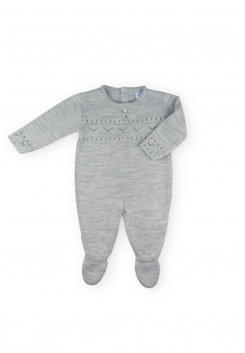 Sardon Baby Knitted Babygrow, Grey