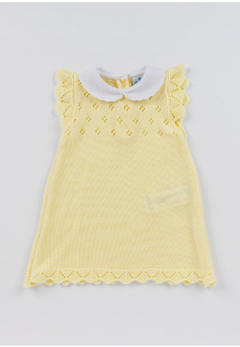 Sardon Baby Girls Knitted Dress, Yellow