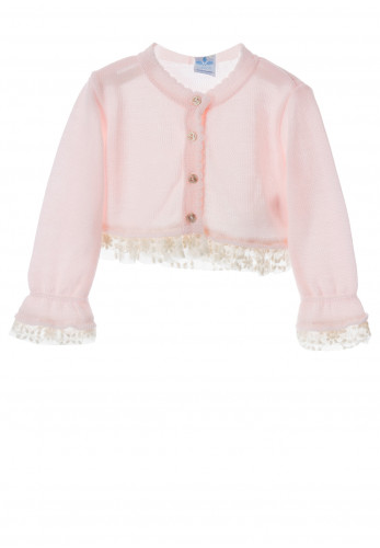 Sardon Baby Girls Knit Bolero Cardigan, Pink