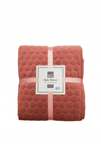 Scatter Box Halo Throw, Antique Rose