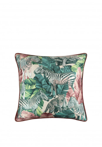 Scatter Box Madagascar 45 x 45 Cushion, Blush/Teal