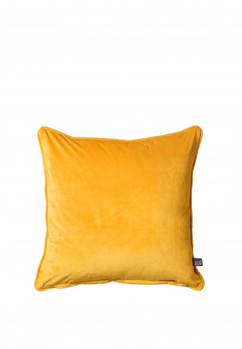 Scatterbox Velour 43x43cm Feather Cushion, Yellow