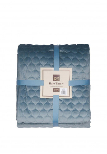 Scatterbox Halo Velour Throw, Cloud