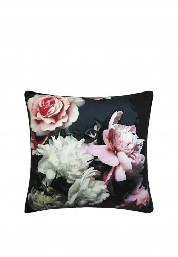 Scatterbox Isabella Floral Feather Filled Cushion, Black