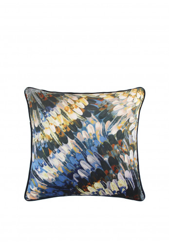 Scatterbox Kingfisher Cushion, Navy and Ochre