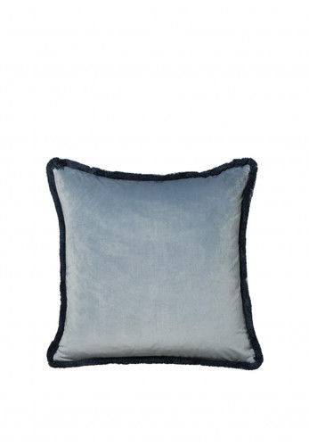Scatterbox Milana Velour Feather Cushion, Duo Blue