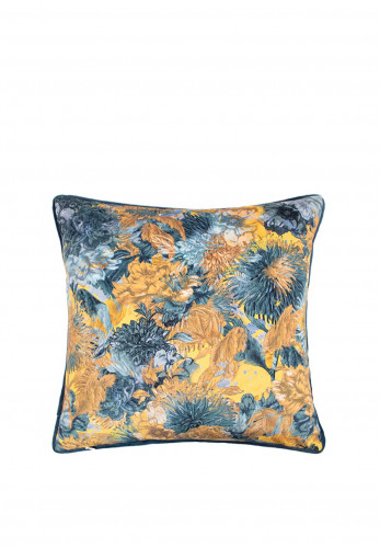 Scatterbox Miravel Feather Cushion, Blue/Ochre