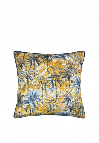Scatterbox Sabai Blue & Gold Feather Cushion