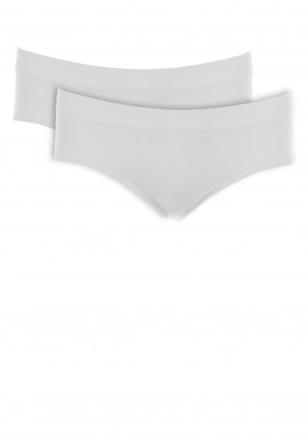Schiesser Girls Two Pack Cotton Briefs, White