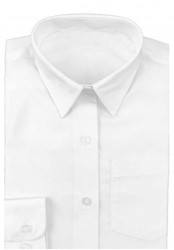 Hunter Twin Pack Long Sleeve School Shirt, White