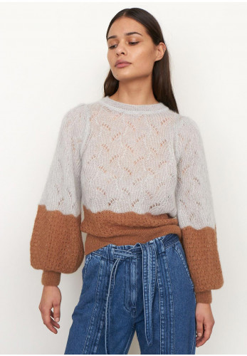 Second Female Eugenia Mohair Wool Knit Jumper, Grey Multi
