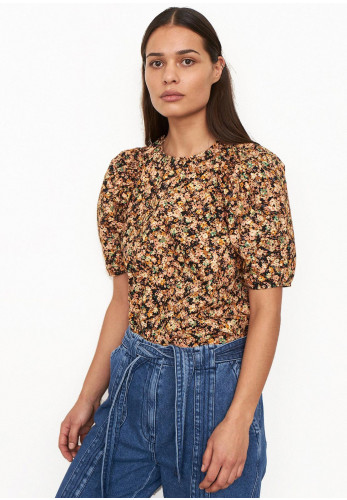 Second Female Mayda Ditsy Floral Print Blouse, Peach Multi