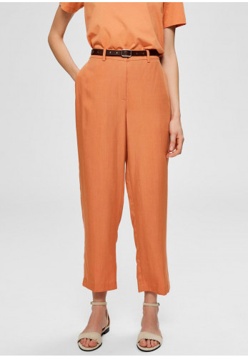Selected Femme Milo Cropped Trousers, Caramel