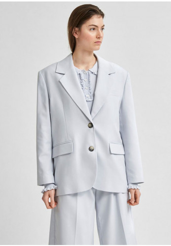 Selected Femme Pas Relaxed Blazer Jacket, Arctic Blue