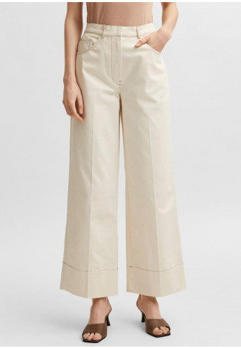 Selected Femme Jackie High Waisted Wide Leg Trousers, Birch