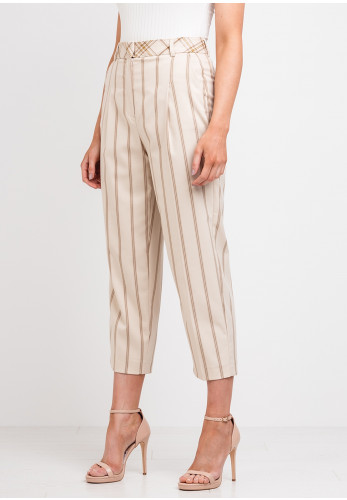 Selected Femme Emily Striped Trousers, Cream
