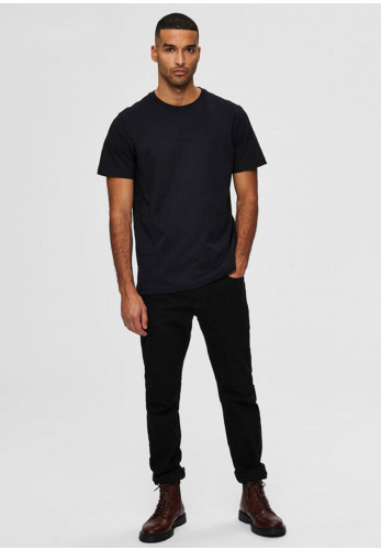 Selected Homme Compacted Organic T-Shirt, Black