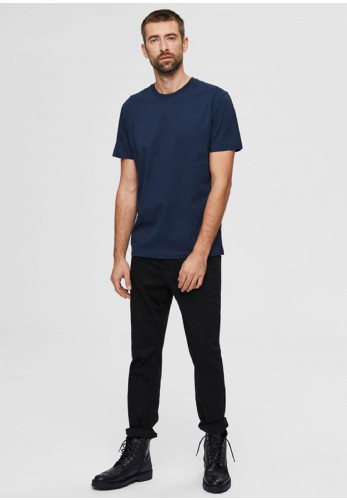 Selected Homme Compacted Organic T-Shirt, Navy Blazer
