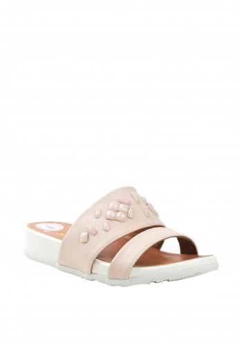 Zanni Shapes Crystal Sandals, Nude