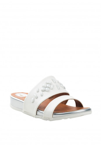 Zanni Shapes Crystal Sandals, White