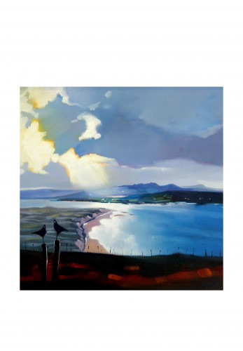Sharon McDaid Breaking Light Over Five Finger Strand Framed Art