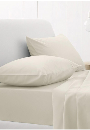 Sheridan One Pair Standard Sateen Pillowcases, Chalk
