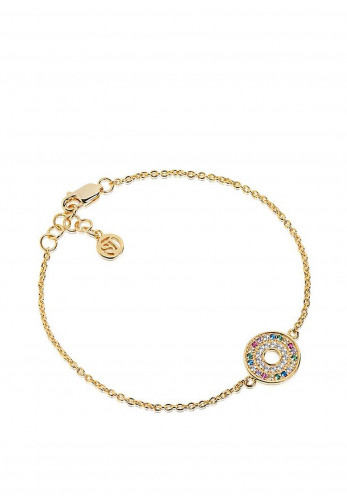 Sif Jakobs Valiano Multi-Coloured Stones Bracelet, Yellow Gold