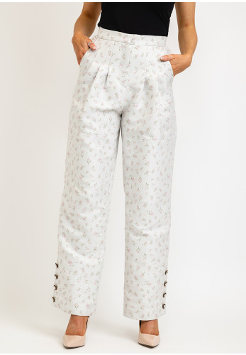 Sister Jane Betsy Floral Jacquard Trousers, Grey Multi