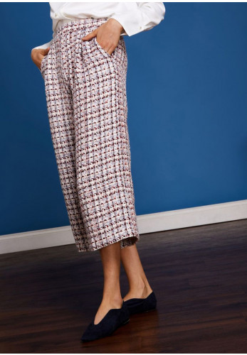 Sister Jane Sail Away Tweed Culottes, Multi-Coloured