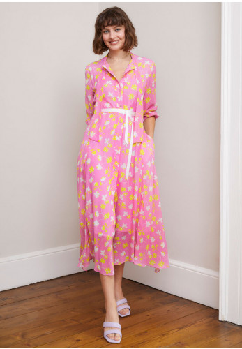Sisters by Caroline Kilkenny Ricki Flared Floral Dress, Pink
