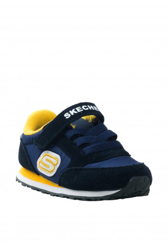 Skechers Baby Boys Suede Contrast Trainers, Navy